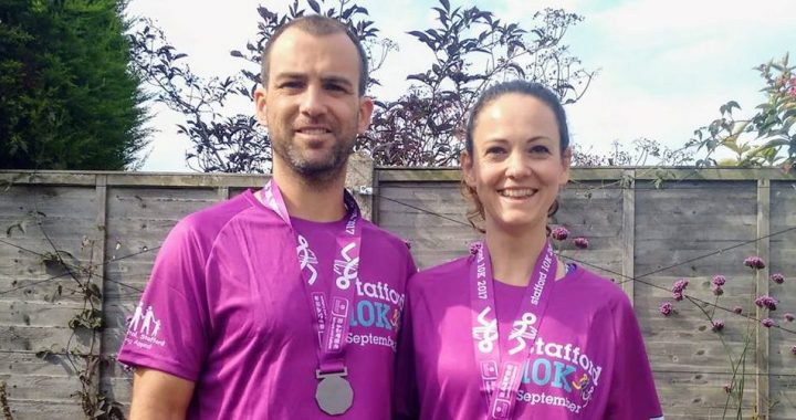 Stafford Chiropractor Chris and massage therapist Liesa run the Stafford 10k